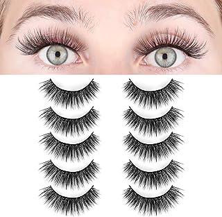 LASHVIEW False Eyelashes,Faux Mink Eyelashes, 3D Natural Layered Effect,Comfortable and Soft,Handmade Lashes Wispies,Environmental Silk Lashes,Reusable Natural Look False Eyelashes for Makeup