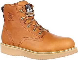 Georgia Men's 6'' Wedge Work Boot, Barracuda Gold, 12 W US