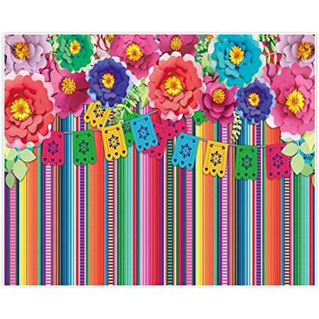 Cinco de Mayo Photography Background 15x10ft Mexico Holiday Backdrop Cartoon Colorful Flags Flowers Music Guitar Carnival Dance Party Celebrate Festival Decor Photo Prop Studio Poster