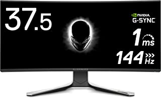 Dell ALIENWARE ゲーミング曲面モニター 37.5インチ AW3821DW(無輝点3年間交換保証/FPS向き/1ms/144Hz/G-SYNC ULTIMATE/WQHD+/HDR 600/IPS非光沢/DP,HDMIx2)