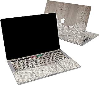 Lex Altern Vinyl Skin for MacBook Air 13 inch Mac Pro 16 15 Retina 12 11 2020 2019 2018 2017 Gray Wood Abstract Waves Cute...