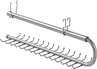 Rubbermaid Configurations 30-Hook Tie and Belt Organizer, Titanium(FG3H9802TITNM)