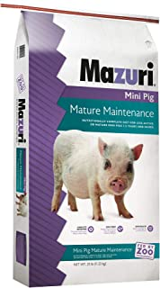 Mazuri Mini Pig Mature Maintenance Food, 25 lb Bag