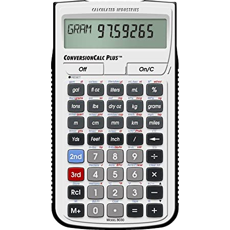 Calculated Industries 8030 ConversionCalc Plus Ultimate Professional Conversion Calculator Tool for Health Care Workers, Scientists, Pharmacists, Nutritionists, Lab Techs, Engineers and Importers