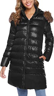 iClosam Women's Long Winter Coat Thick Fur Down Jacket with Hood