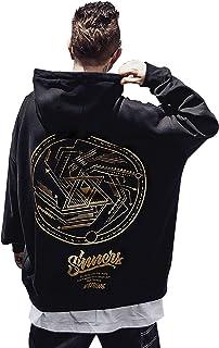 XYXIONGMAO Trendy Circle Pattern Hoodie Men's Japanese Hoodies Oversized Couple Sweatshirt