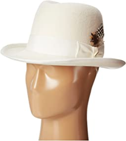 Stacy Adams - Homburg Wool Felt Hat w/ Grosgrain Band