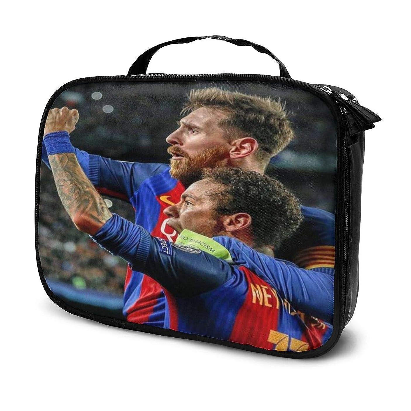確認してください防腐剤自殺化粧ポーチ Messi Neymar メッシ、ニーマルJR 女性化粧品バッグ ビューティー メイク道具 フェイスケアツール 化粧ポーチメイクボックス ホーム、旅行、ショッピング、ショッピング