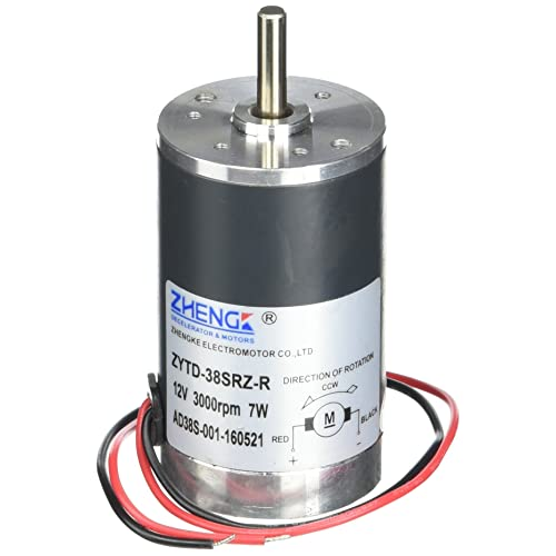 1cade2755 uxcell 300G.cm DC 12V 0.58A Brushed Electric Motor 3000RPM