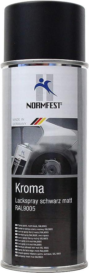 Normfest Kroma Lackspray Schwarz Matt Ral 9005 Auto