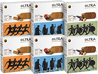 Olyra: Organic Breakfast Biscuits - USDA Organic - Non-GMO - All Natural Ingredients - Made With Ancient Greek Whole Grains - Sustain Energy Levels - (Multipack) - 6 Boxes (24 Packs, 3 Biscuits/Pack)