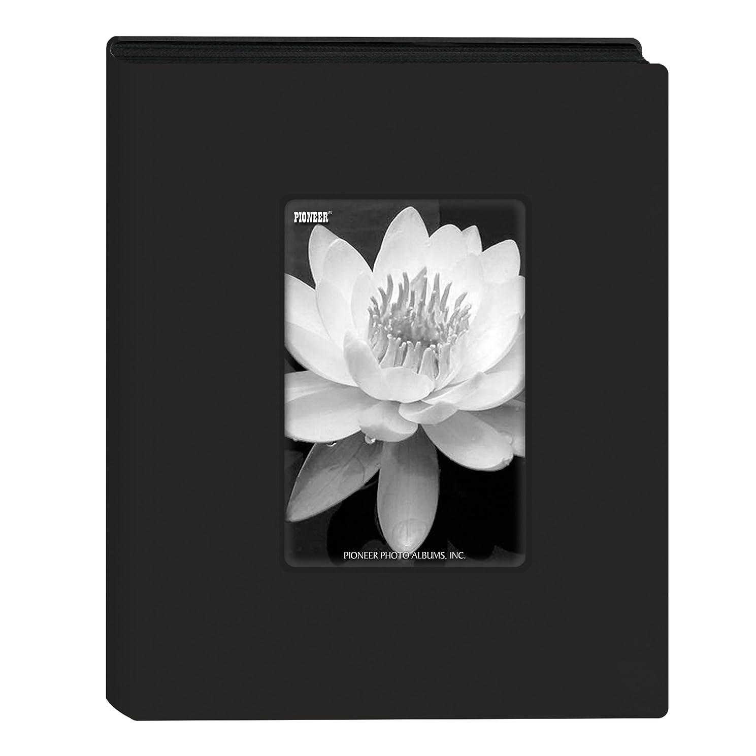 Pioneer Photo Albums KZ-46 Mini Frame Cover Photo Album 24 Pkt 4x6, Black,