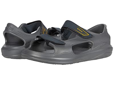 Crocs Kids Swiftwatertm Expedition Sandal (Toddler/Little Kid/Big Kid) (Slate Grey/Charcoal) Kid