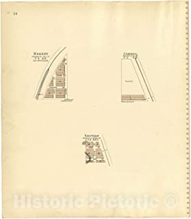 Historic 1903 Map - Plat Book of Lancaster County, Nebraska - Rokeby; Jamaica; Saltillo 44in x 51in