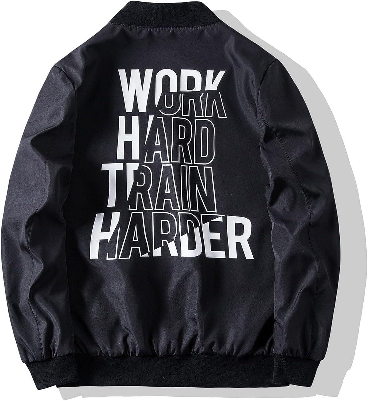 Bomber Jacket Zipper Cardigan Jackets Essentials Men's Windbreaker Coat Popular Stand Collar with Pocket Black