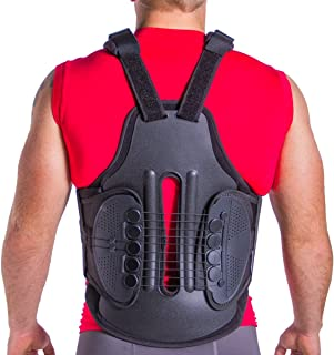TLSO Thoracic Full Back Brace | Treat Kyphosis, Osteoporosis, Spine Compression Fractures, Wedge & Burst Fractures, Upper Spine Injuries & Post Surgery Support (Small)