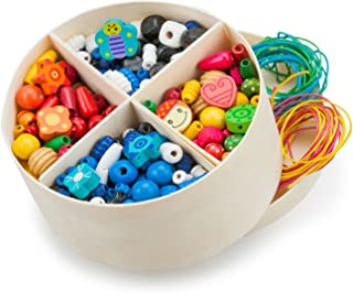 Wooden Lacing Beads - 260 gram