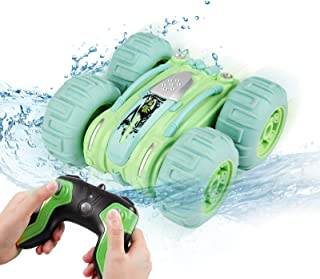 Innoo Tech Remote Control Car Waterproof Stunt Car- 2.4Ghz 4WD Off Road Water & Land Rc Cars-Double Sides Stunt Car with 3...
