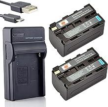 DSTE NP-F750 Li-ion Batería (2 paquetes) Traje y cargador micro USB Compatible con Sony CCD-SC5 CCD-TRV80PK DCR-TRV820 CCD-SC55 CCD-TRV81 DCR-TRV820K CCD-SC65 CCD-TRV815 DCR-TRV9 CCD-TR3 CCD-TRV82 DCR-TRV900 CCD-TR3000