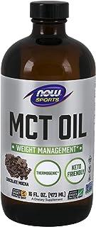 NOW Sports Nutrition, MCT (Medium-chain triglycerides) Oil, Chocolate Mocha, 16-Ounce