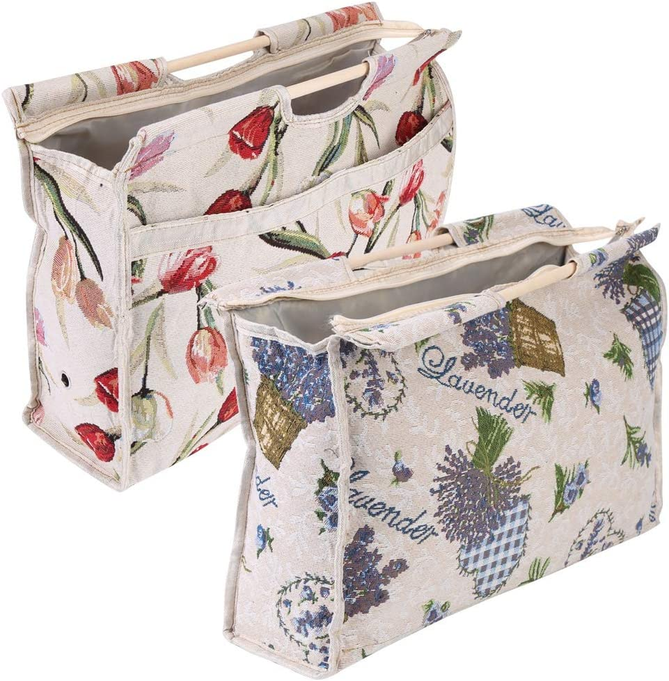 Floral メーカー公式 1pc Exquisite Practical Wood 信託 Storage Fabric Handle Woven