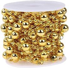 N+A Ball Bead Chain Pearl Garland, Roll Pearl String Plastic kerstkralen,Ronde kralen Garland voor kerstboom, bruiloft, de...