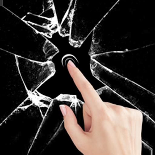 Cracked Screen Broken Glass Wallpaper Prank