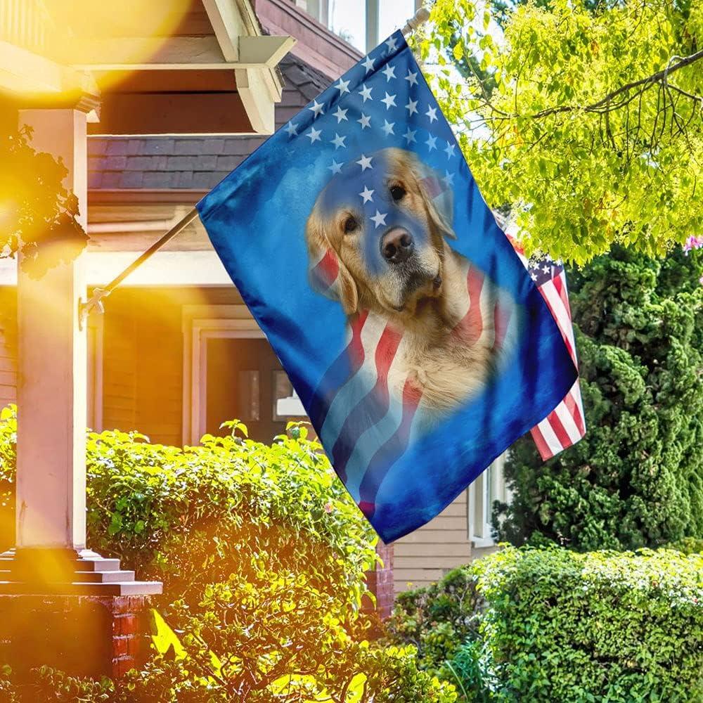 FLAGWIX American Flag-Golden Retriever Shipping Wholesale included Stripes Stars Dog Flag