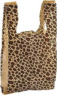Medium Leopard Print Plastic T-Shirt Bags - Case of 500
