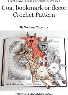Goat bookmark or decor Crochet Pattern Amigurumi (LittleOwlsHut) (Crochet bookmark Book 14)
