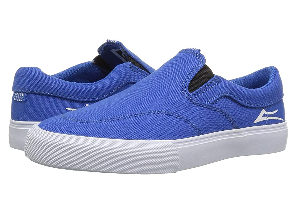 Lakai Owen (Little Kid/Big Kid) (Blue/White Canvas) Men