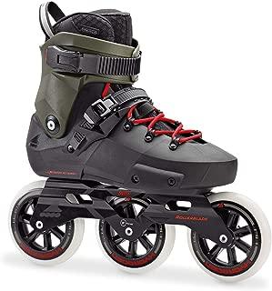 Rollerblade Twister Edge 110 3WD Unisex Adult Fitness Inline Skate, Black and Army Green, Premium Inline Skates (Renewed)