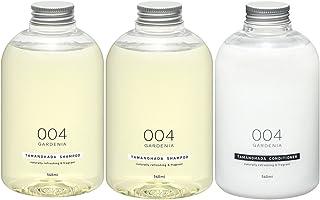 Tamanohada 玉肌 无硅油洗护发套装 004 栀子花香 (洗发水540ml*2+护发素540ml)(日本品牌)
