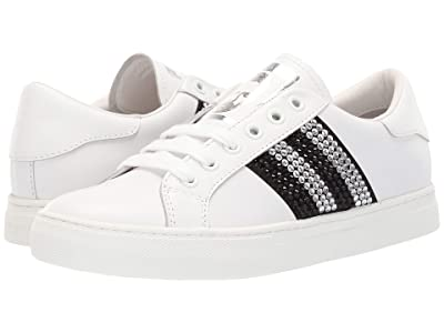 Marc Jacobs Empire Strass Low Top Sneaker (White/Black Multi) Women