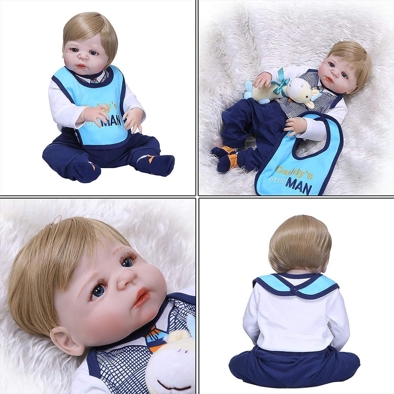 Reborn Puppe Realistische Voll-Silikon-Vinyl, für Neugeborene, Mdchen, Prinzessin, Kleider, Schnuller, lebensechte Handarbeit, 56 cm