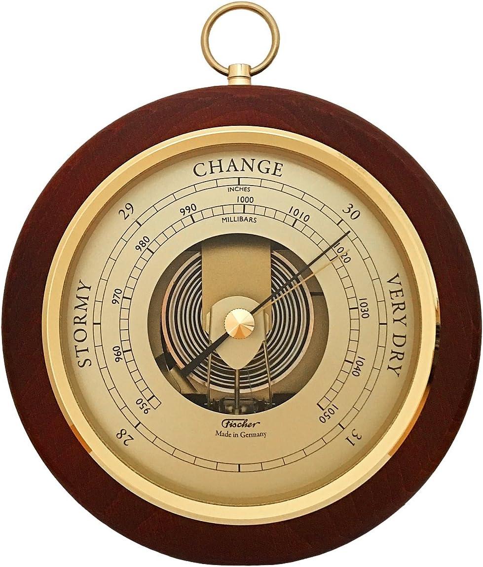 Fischer Barometer Pascal Brass-Mahogany 6.7