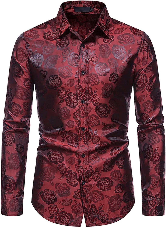 Men's Cotton Dress Shirts Long Sleeve Plaid Collar Shirt Slim Fit Casual Button Up Dress Shirt Classic Cotton Shirt