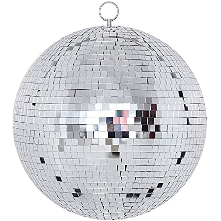 "NuLink 8"" Disco Light Mirror Ball with Hanging Ring"