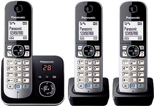 Panasonic KX-TG6823 Téléphones Sans fil Répondeur Ecran [Version Allemande]