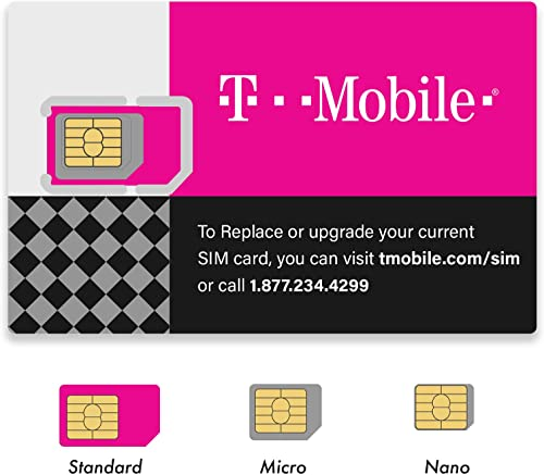 (2 Pack) Authentic Official T-Mobile SIM Card Micro/Nano/Standard GSM 4G/3G/2G LTE Prepaid/Postpaid Starter Kit Unact...