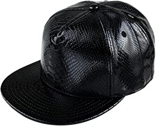 7a8a779ea5d Amazon.com  leather snapback