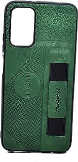 كفر حماية جلد مع حامل لجهاز شاومي بوكو M3 (اخضر)