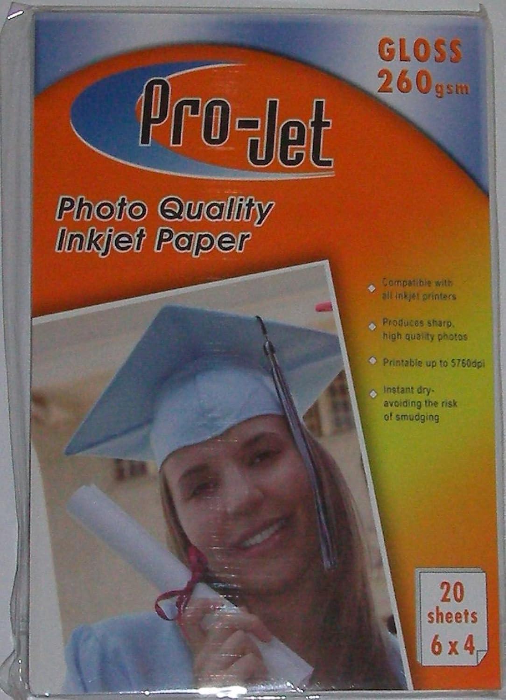 800 Blatt 6 x 4 260 gsm Projet Hochglanzfotopapier B071VZGPLS   Sehr gute Qualität