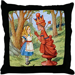 CafePress Alice Meets The Red Queen Decor Throw Pillow (18
