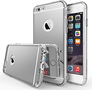 Ringke Fusion Mirror Compatible with iPhone 6S Case Bright Reflection Radiant Luxury Mirror Case Drop Protection, Shock Absorption Technology Attached Dust Cap for iPhone 6 - Silver