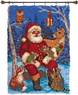 Herrschners® Santa with Wildlife Latch Hook Kit