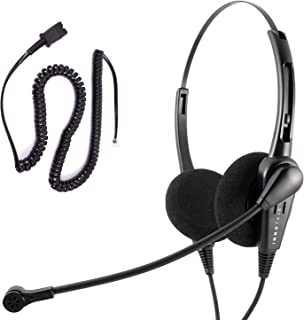 Cisco 7945, 7960, 7961, 7962, 7965 Phone Headset and Adapter Package - Cost Effective Customer Service Binaural headset + Cisco Phone Cord