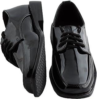 幼児/男の子ブラックSquare Toeタキシード靴