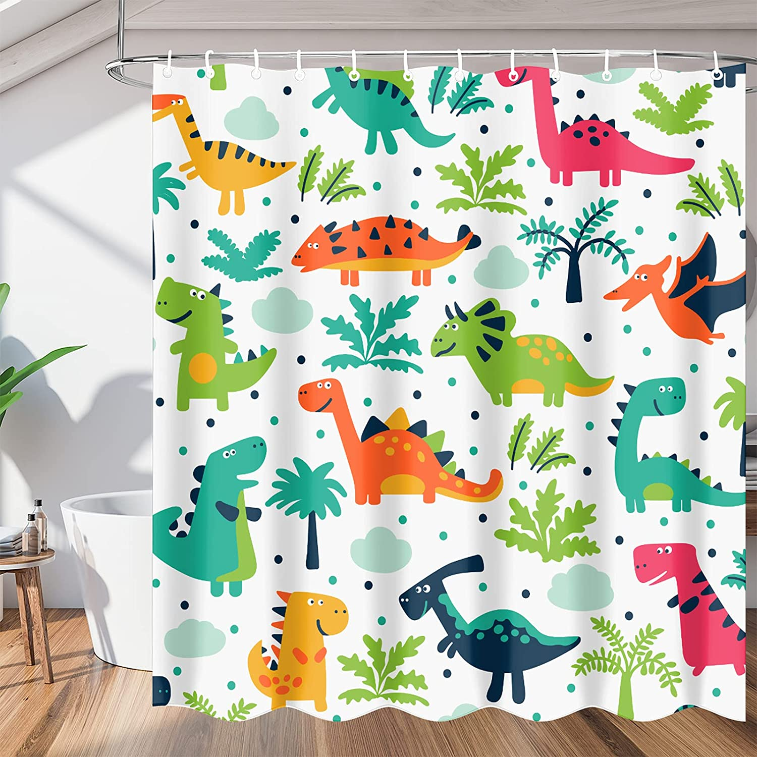 Cute New life Dinosaur Bathroom Shower Sets Curtain Wate New products, world's highest quality popular! Curtains
