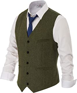 green plaid vest mens